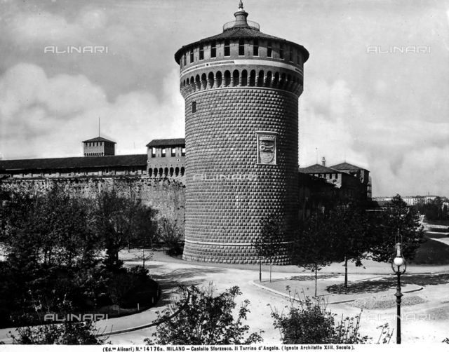 Corner Tower, Sforza Castle, Milan