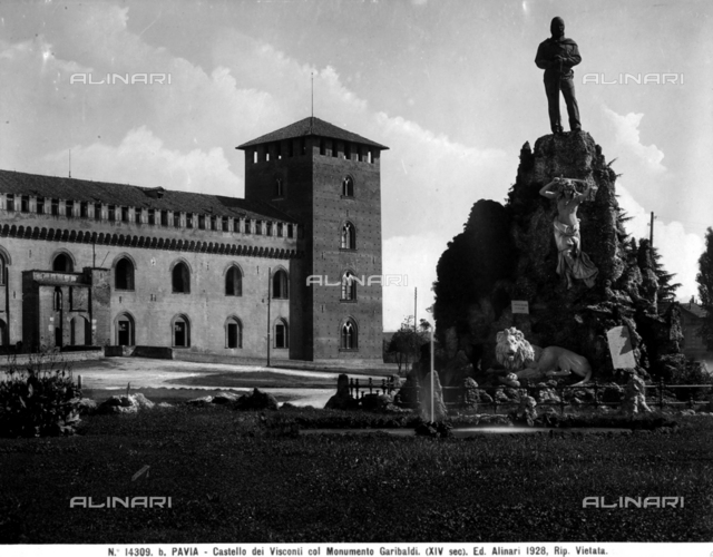 Monument to Garibaldi, Piazza Castello, Pavia
