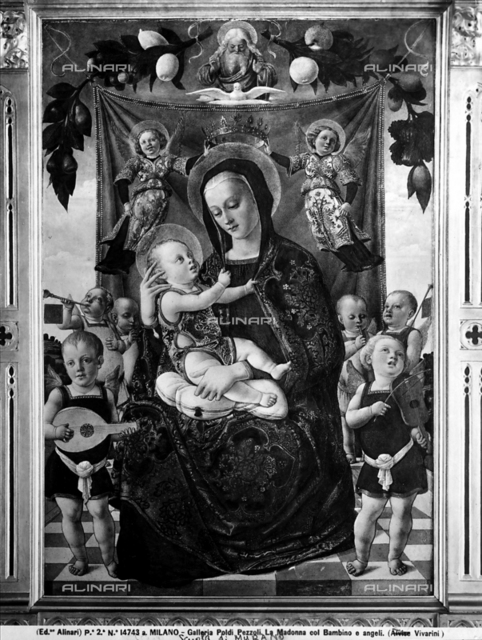 Madonna with Child and angels playing instruments, Poldi Pezzoli Museum, Milan.