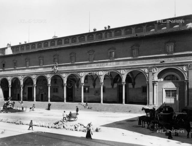 Loggia, Spedale degli Innocenti, or Foundling Hospital, Florence
