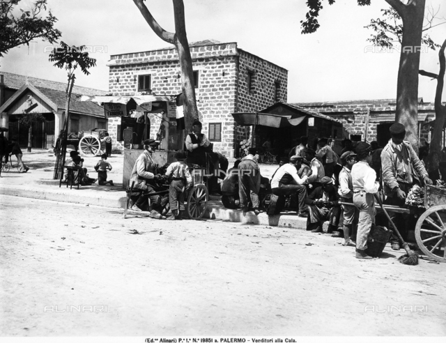 "Vendors at the ""Cala"" of Palermo"
