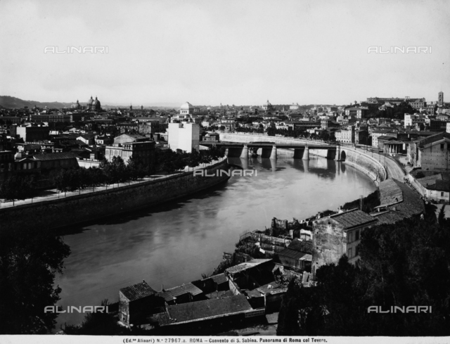 View of Rome and the Tiber which passes through it