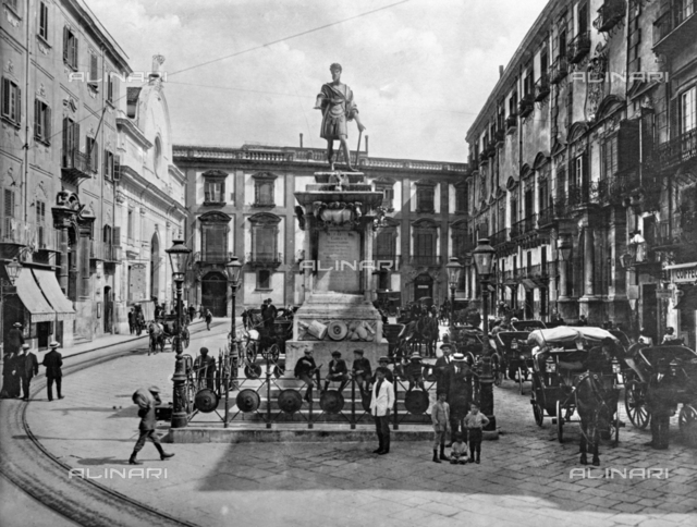 Piazza Bologni and the monument to Charles V in Palermo