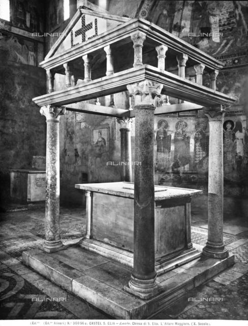 Interior, Basilica di Sant'Anastasio or Basilica di Sant'Elia, Castel Sant'Elia, Viterbo, Lazio