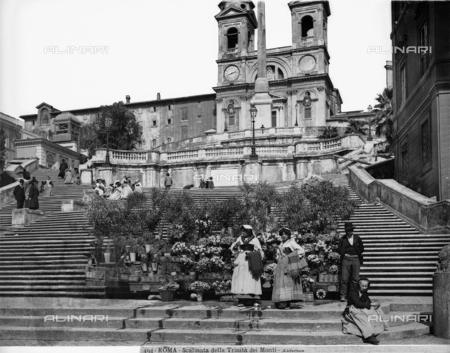 Spanish Steps, or the Staircase to Trinità dei Monti, Francesco de Sanctis, Piazza di Spagna, Rome