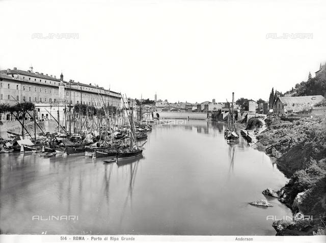 The river port of Ripa Grande, Rome