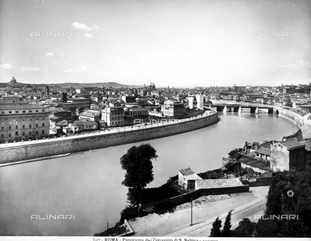 Panoramic view of Rome from the Convent of S. Sabina