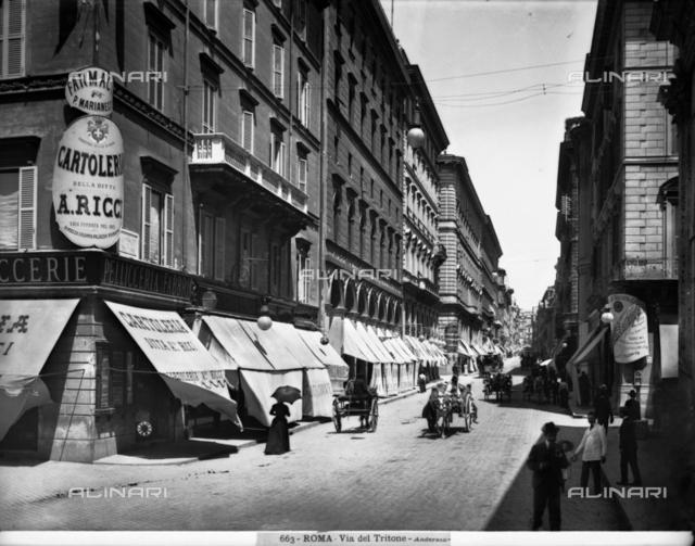 View of via del Tritone in Rome.