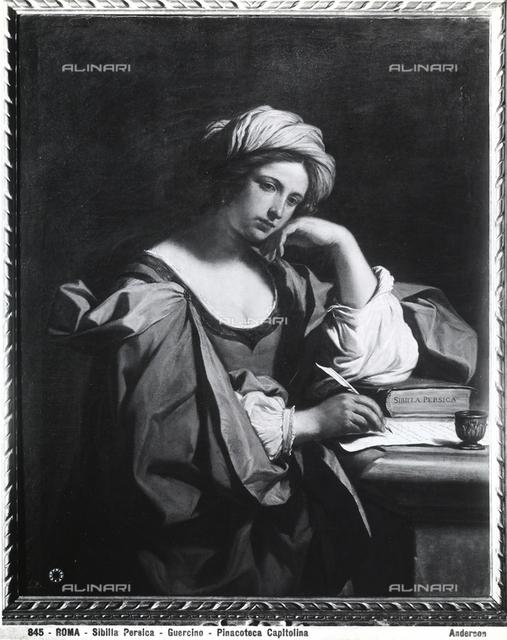 Dipinto raffigurante la Sibilla Persica, opera del Guercino, conservata nella Pinacoteca Capitolina di Roma