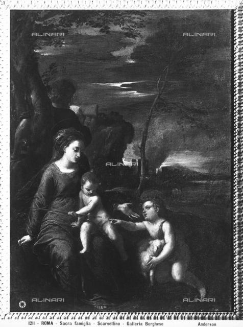 The Holy Family with the Infant St. John, Borghese Gallery, Rome
