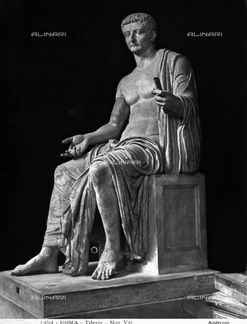 Statue of Tiberius, Vatican Museums, Vatican City