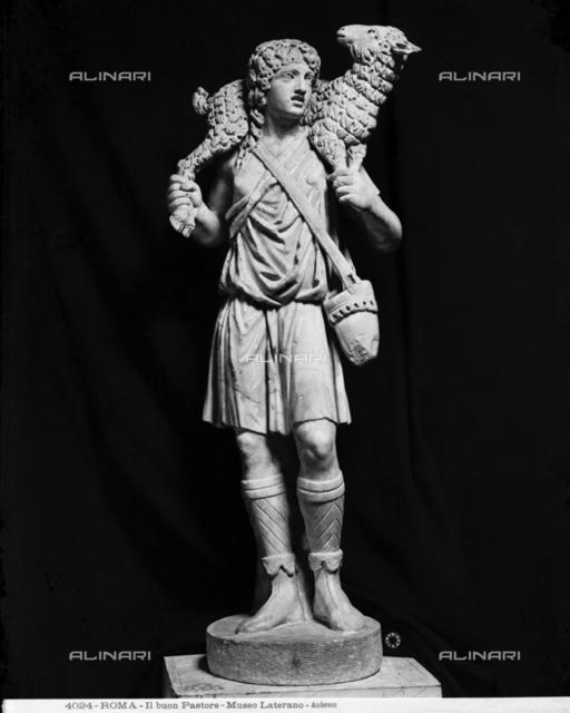 Good shepherd, Gregoriano Profano Museum (formerly Lateran Museum), Vatican Museums, Vatican City