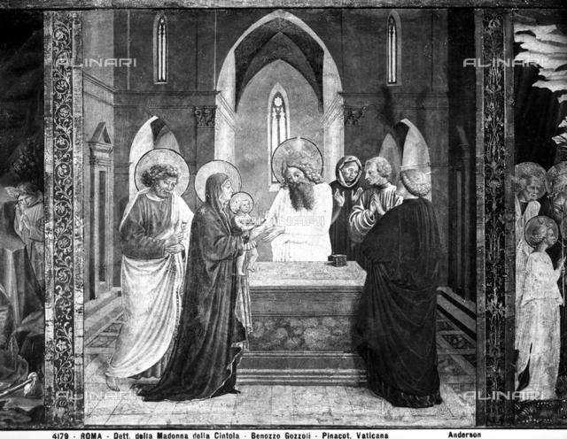 Presentation of Jesus at the Temple, predella, Benozzo Gozzoli, Vatican Portrait Gallery, Vatican City