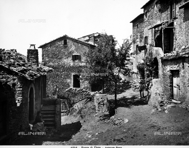 View of some houses in Rocca di Papa