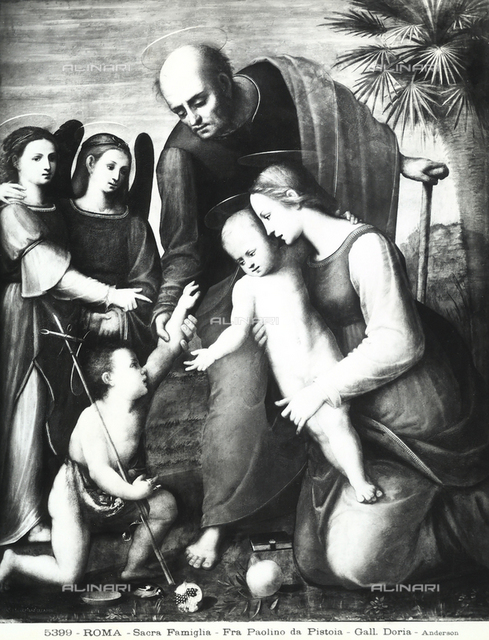 Sacred Family with San Giovannino and two angels, Doria Pamphilj Gallery, Rome