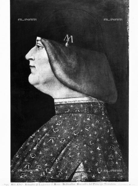 Ritratto di Ludovico il Moro, Giovanni Antonio Boltraffio (1467-1516), Raccolta del Principe Trivulzio, Milano
