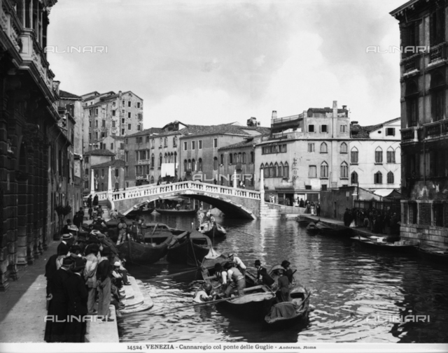 Animated View of Cannaregio in Venice and the bridge of the Guglie