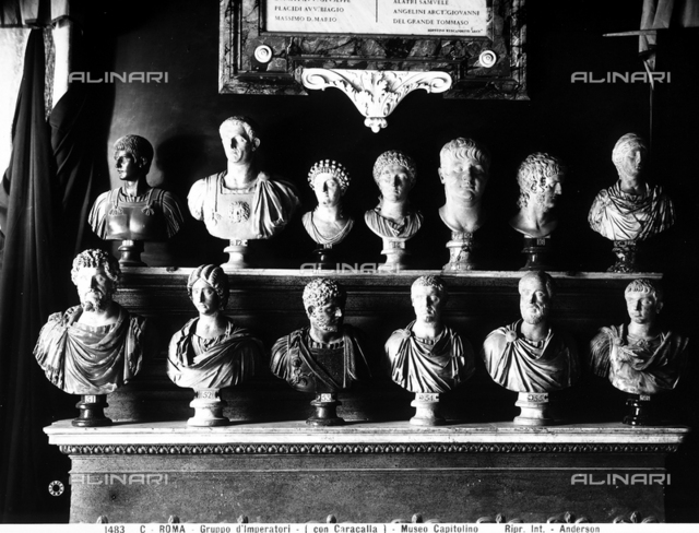 Busts of emperors and empresses, Hall of the Emperors, Capitoline Museums, Rome