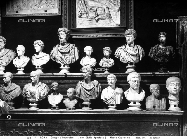 Roman emperors and noblewomen, Hall of the Emperors, Capitoline Museums, Rome