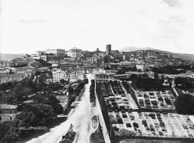 Panorama of the city of Perugia