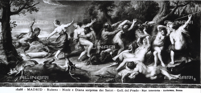 Diana and the Nymphs caught by the Satyrs, Prado Gallery, Madrid