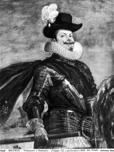 Equestrian portrait of Philip III, painted by Diego Velà¡zquez (1599-1660), Prado Museum, Madrid