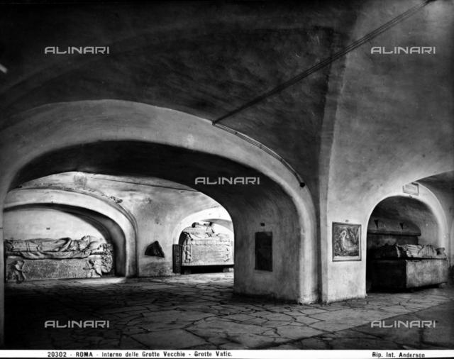 Old Grottoes, Sacred Vatican Grottoes, Vatican City.