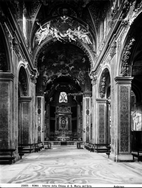 Interior of the Church of Santa Maria dell'Orto, Rome.