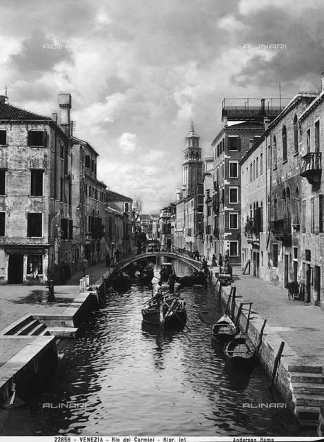 Animated view of the Rio dei Carmini, Venice