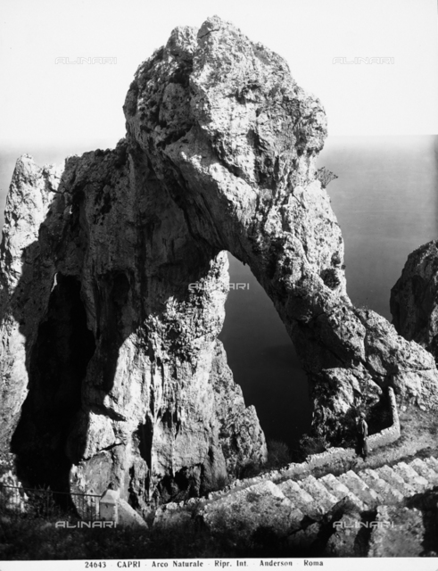 A natural arch of rock formed by erosion, Capri