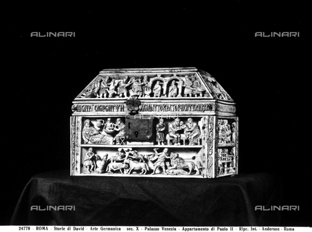 Ivory casket portraying the Stories of David, Museum of Palazzo Venezia, Rome