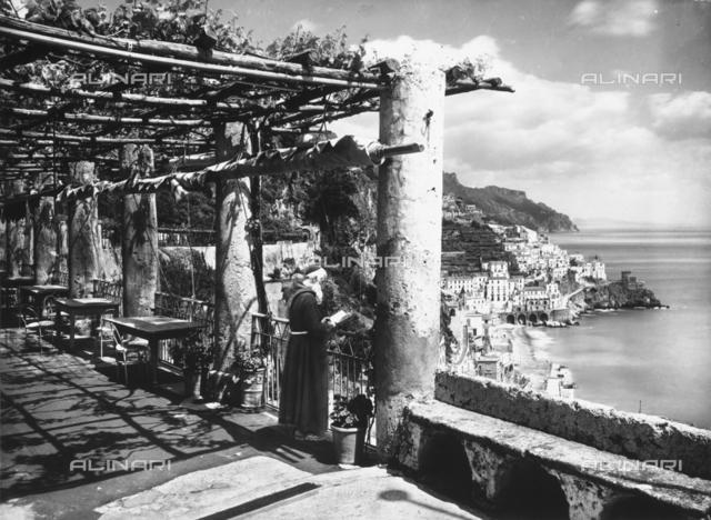 The Hotel Cappuccini terrace, in Amalfi