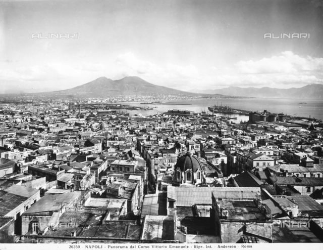 View of the city of Naples