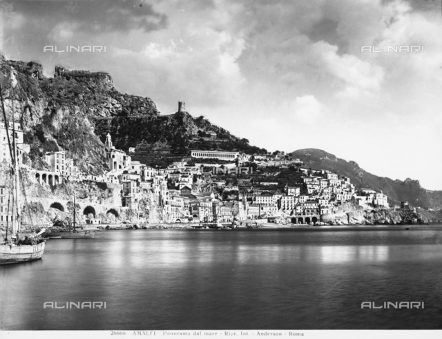 Panoramic view of Amalfi from the sea