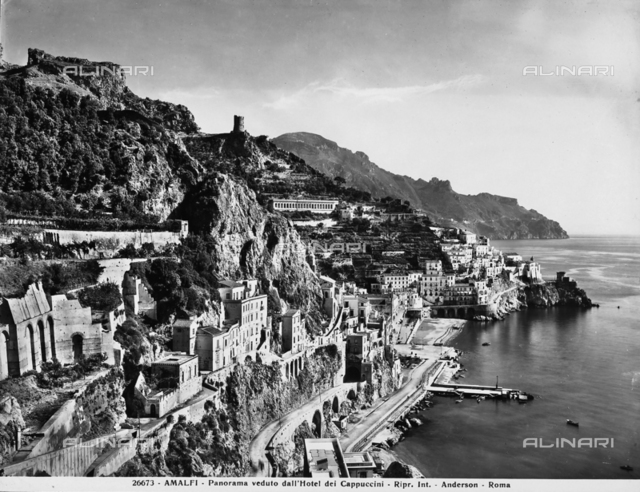 Panoramic view of Amalfi and the Amalfi Coast from the Capuchin Monastery
