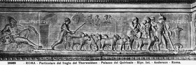 A shepherd leads his flock to the altar to be sacrificed, Quirinal Palace, Rome
