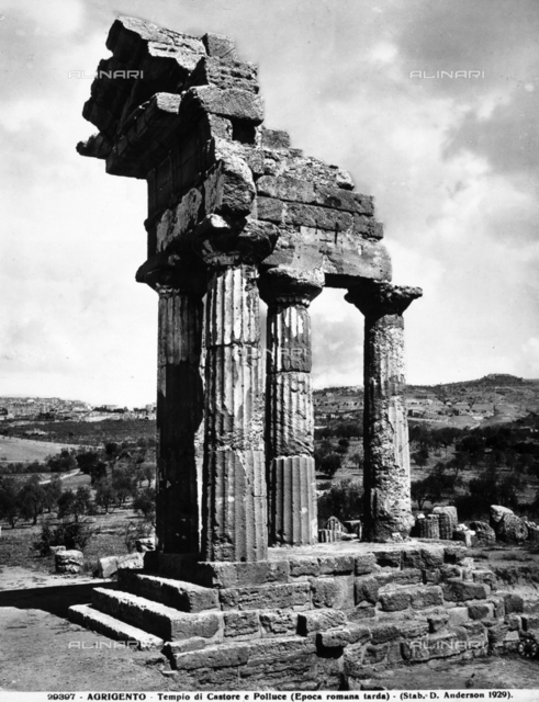 Temple of the Dioscuri, Valley of the Temples, Agrigento