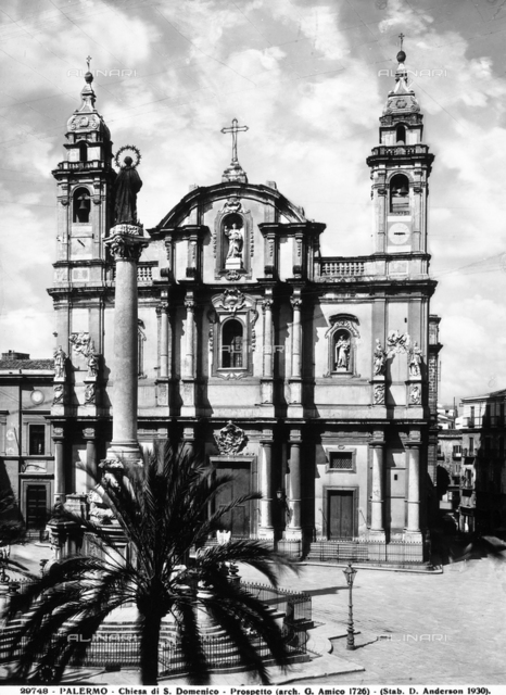 Church of San Domenico, faà§ade, Palermo