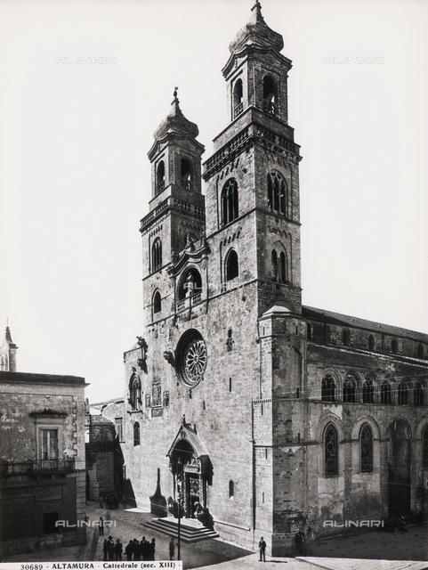 Exterior of the Cathedral of Altamura, in Puglia, dedicated to Our Lady of the Assumption