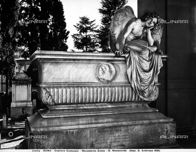 The Zonca Monument in the Cimitero Comunale in Rome