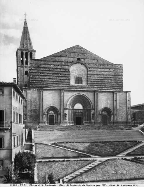 Faà§ade of the church of San Fortunato in Todi