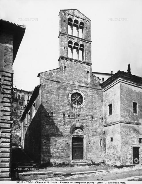 Faà§ade, church of Sant'Ilario, now church of San Carlo, Todi