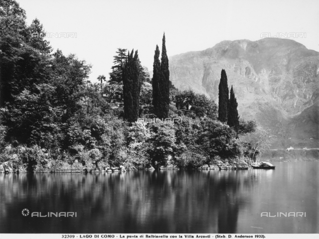 The promontory of Punta Balbianello on Lake Como