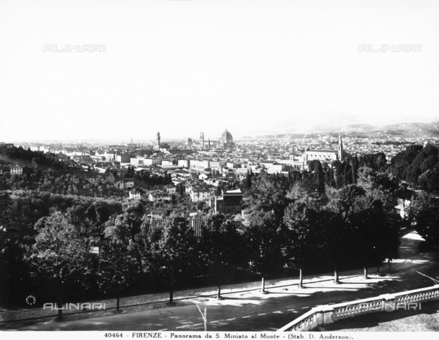Panoramic view of Florence from San Miniato al Monte