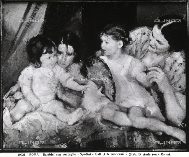 Children with fan, National Gallery of Modern Art, Rome