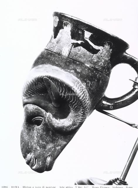 Rhyton with a ram's head, Gregorian Etruscan Museum, Vatican City