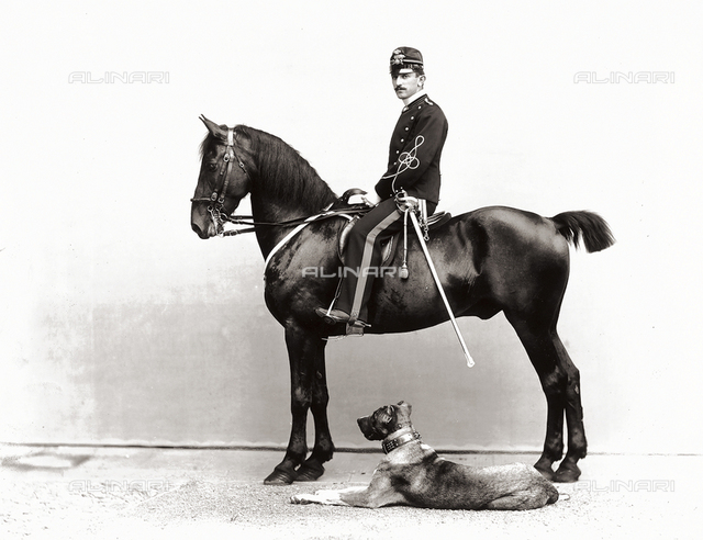 Mario Chesne Dauphiné photographed on horseback