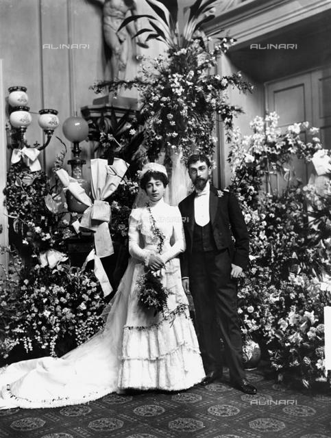 Portrait of bride in her wedding gown