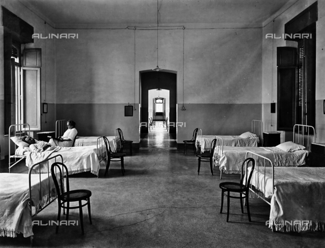 View of a ward in the Hospital of Montecatini-Terme