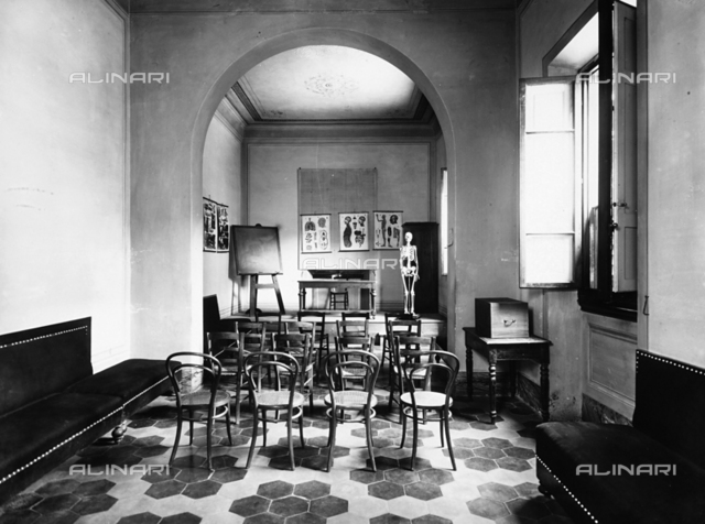 A lecture hall in the asylum of San Salvi, Florence